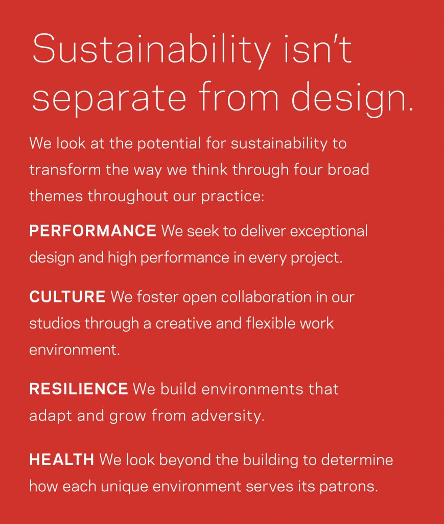 Sustainability not seperate
